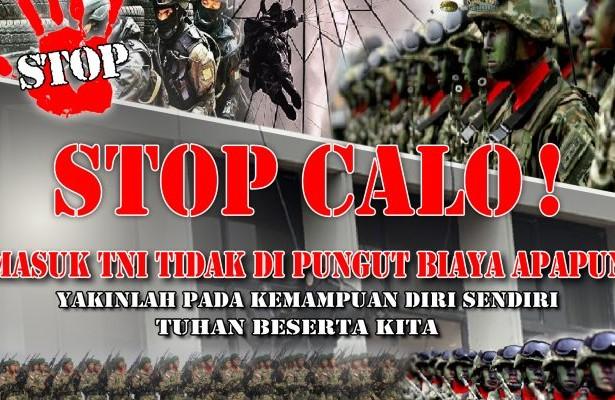 Ayo, Perangi Praktik Percaloan Rekrutmen Anggota TNI